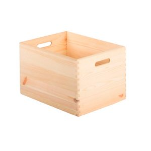 Caja de madera sin tapa Natural Decorativa