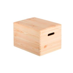 Caja de madera con tapa Natural Decorativa