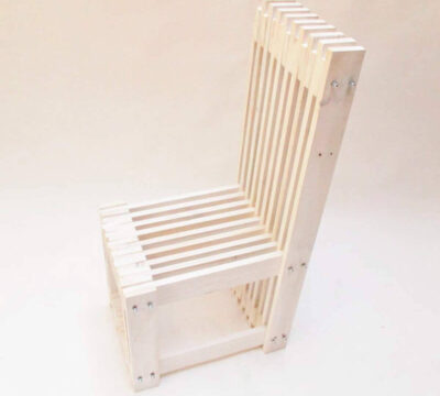 silla de palet blanco decape