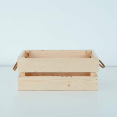 caja palets de madera natural decorativa 1