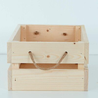 caja palets de madera natural decorativa 2