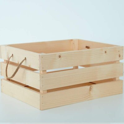 caja palets de madera natural decorativa 3