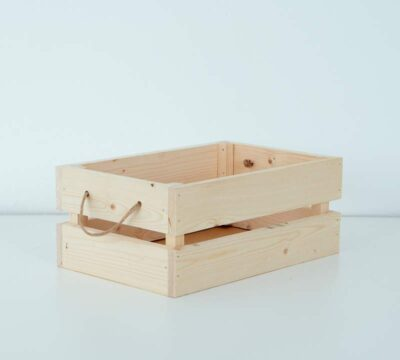 caja palets de madera natural decorativa