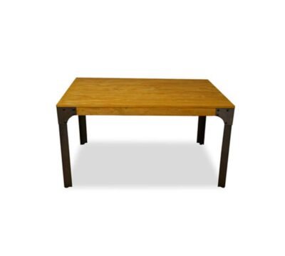 mesa bar de madera industrial boston 75x75xm