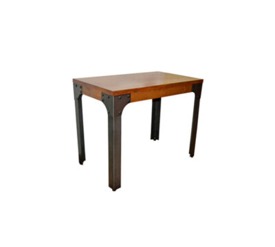 mesa de madera pequena industrial boston 1
