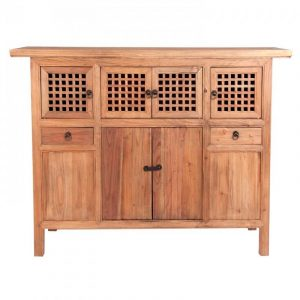 Buffet Jinan Natural madera pino reciclada