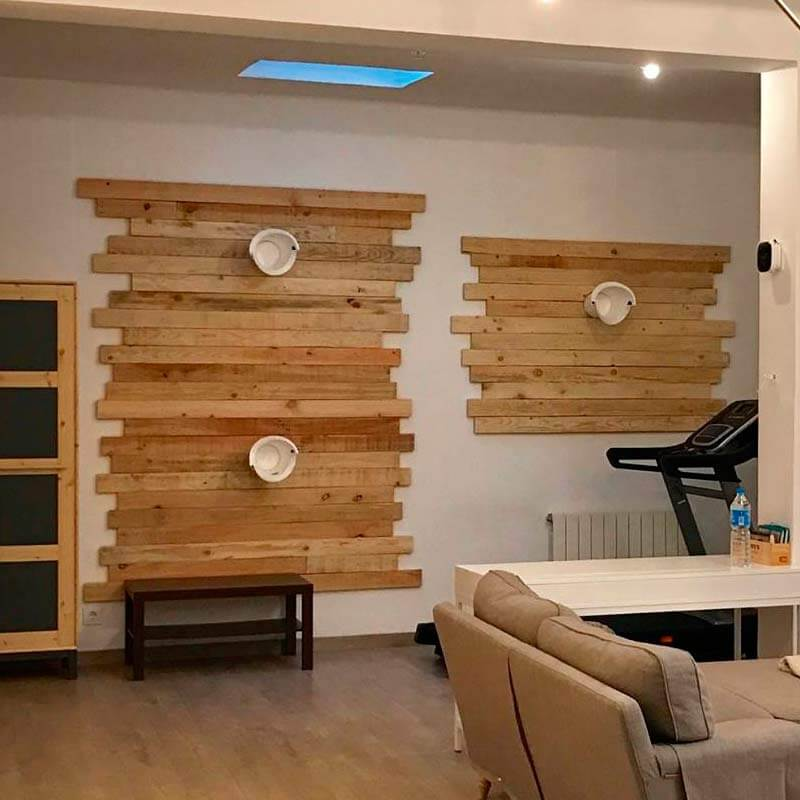 Pared loft m2 decopale com - Paredes decoradas con madera ...