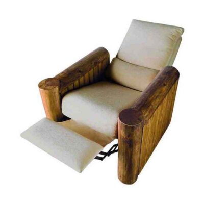sillon reclinable madera rustico 1