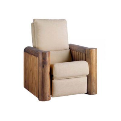 sillon reclinable madera rustico